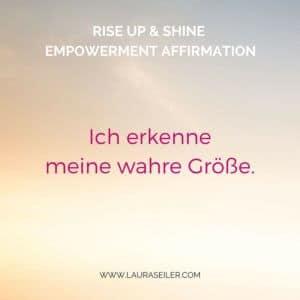 Affirmationen Empowerment Laura Seiler